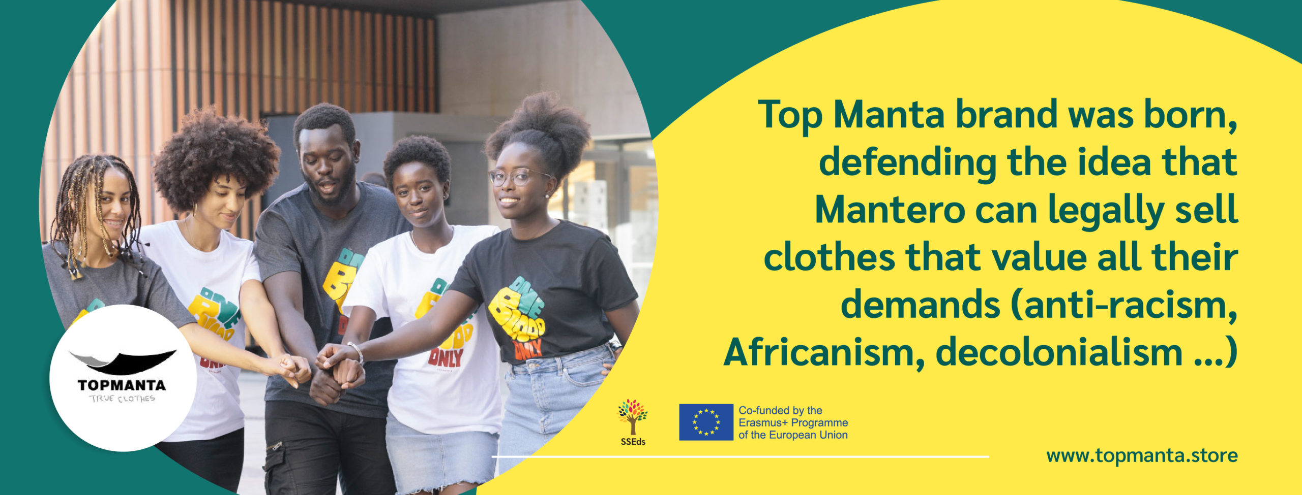 Legal clothing made by people in an illegal situation: Top Manta