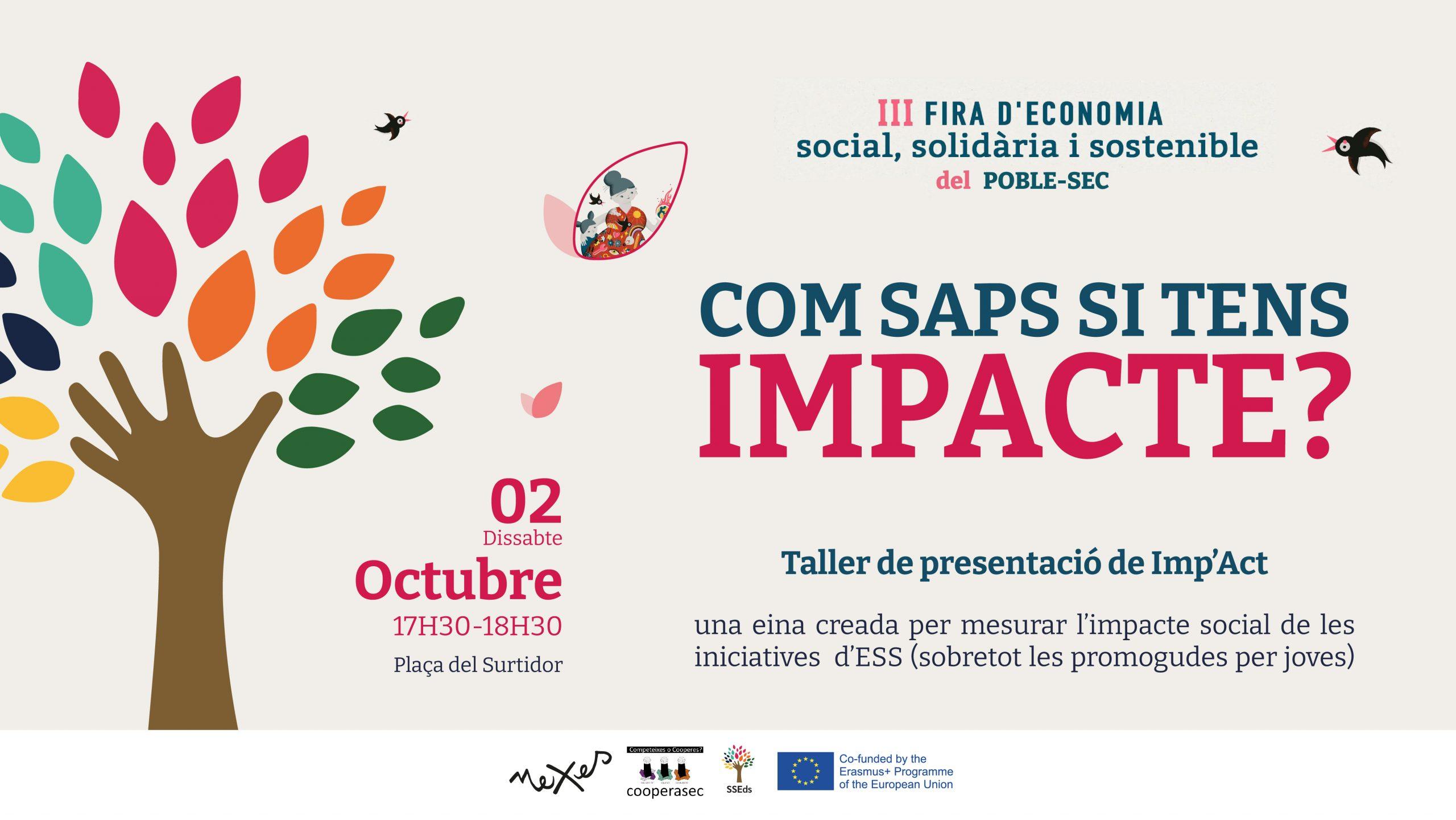Presentation of the Imp'act Tool in the III Fira d'economia social, solidària i sostenible del Poble-sec